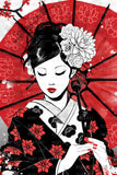 Japan Geisha - Canvas Print