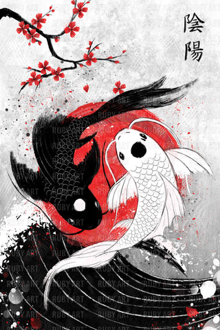 Japan Koi Fish Art Print