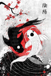 Japan Koi Fish - Metal Print