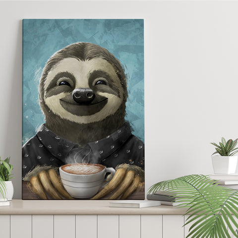 Morning Sloth - Canvas Print