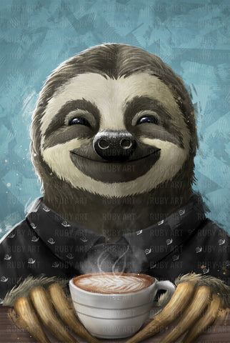 Morning Sloth Inu Print