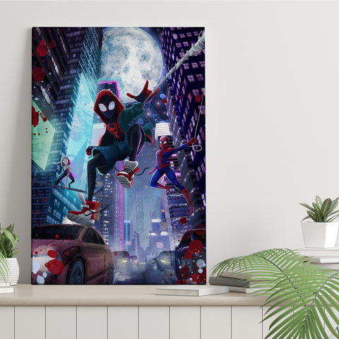 Night City Spiders - Canvas Print