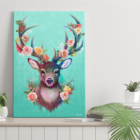 Spring Collection - Deer - Canvas Print