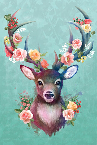 Spring Collection - Deer - Metal Print