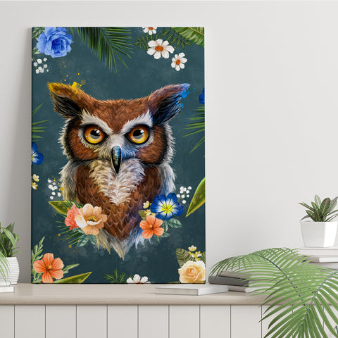 Spring Collection - Owl - Canvas Print