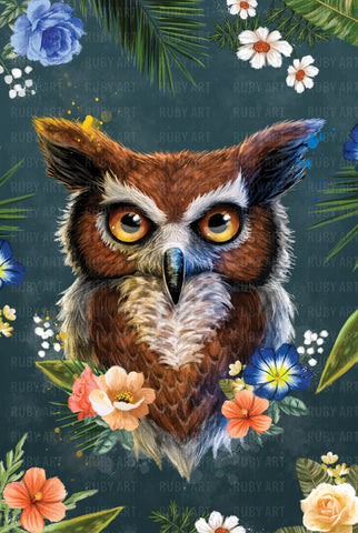 Spring Collection - Owl - Metal Print