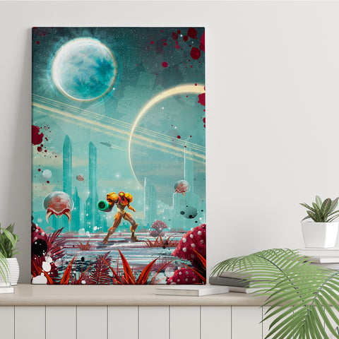 Exploring Another Planet - Canvas Print