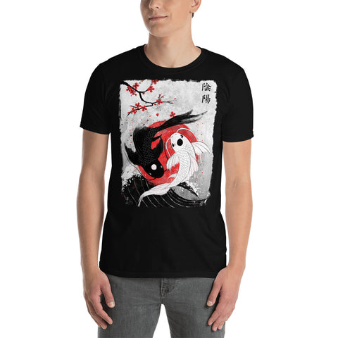 Japan Koi Fish Yin Yang Unisex T-Shirt