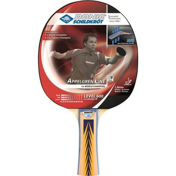 Donic Schildkrot Appelgren Line Level 600 Table Tennis Bat