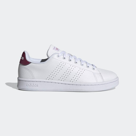 Adidas Advantage Shoes - Cloud White/ Cloud White/ Cherry Metallic