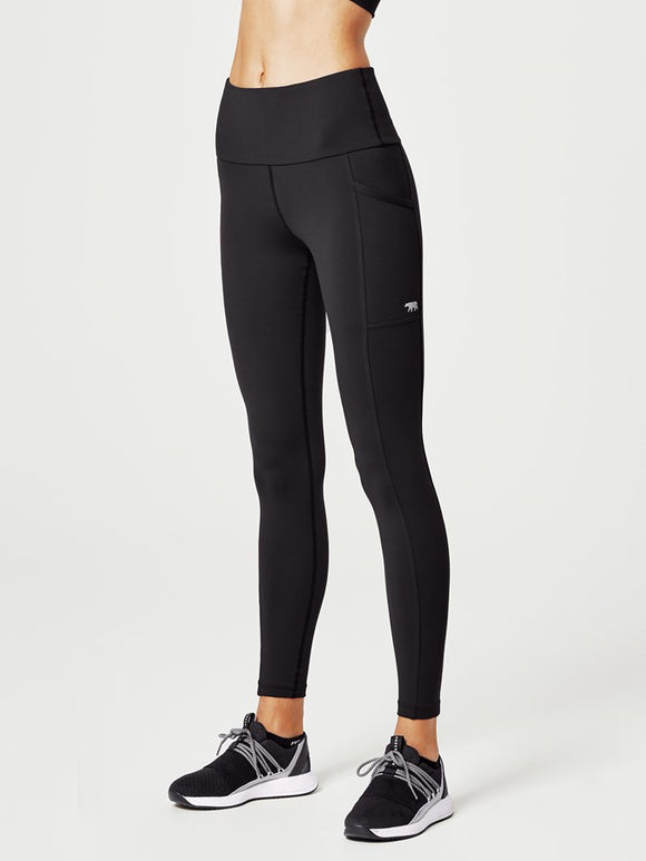 Running Bare Power Moves Ab Waisted Tights Full Length