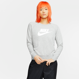 Nike Sportswear Essential Women's Fleece Crew - Grey/White