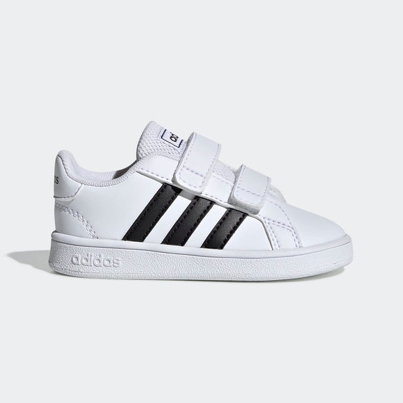 Adidas Toddler Grand Court Shoes - White/Black