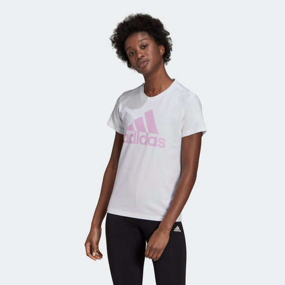 Adidas Loungewear Essentials Logo Tee - White/ Clear Logo