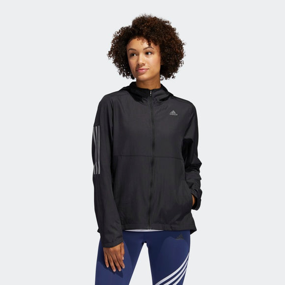 Adidas Own the Run Hooded Wind Jacket - Black