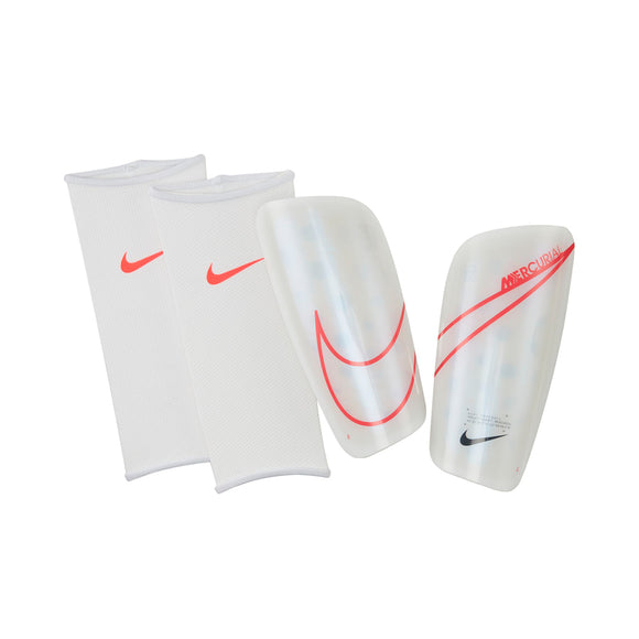 Nike Mercurial Lite Shinguards - White/Coral Red