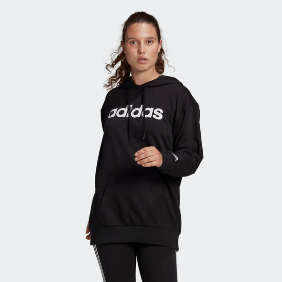 Adidas Essentials Oversize Logo Hoodie - Black/White