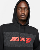 Nike Dri-FIT Sport Clash Pullover Training Hoodie - Black/Bright Crimson