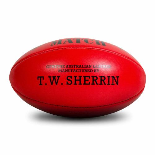 Sherrin Match Football Red Size 5