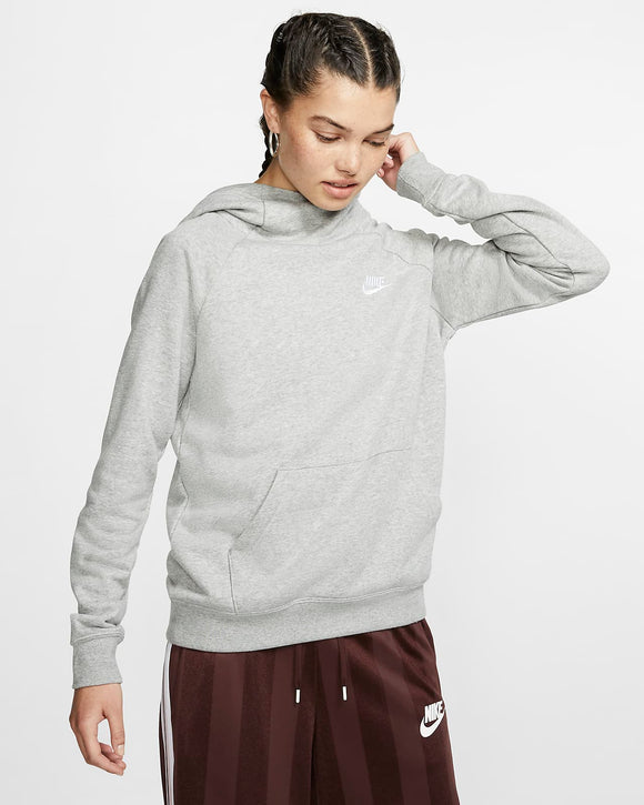 Nike Women's Sportswear Essential Funnel-Neck Fleece Pullover Hoodie - Grey