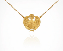 Load image into Gallery viewer, TEMPLE OF THE SUN - Scarab Necklace