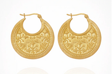 Load image into Gallery viewer, TEMPLE OF THE SUN - Peacock Earrings
