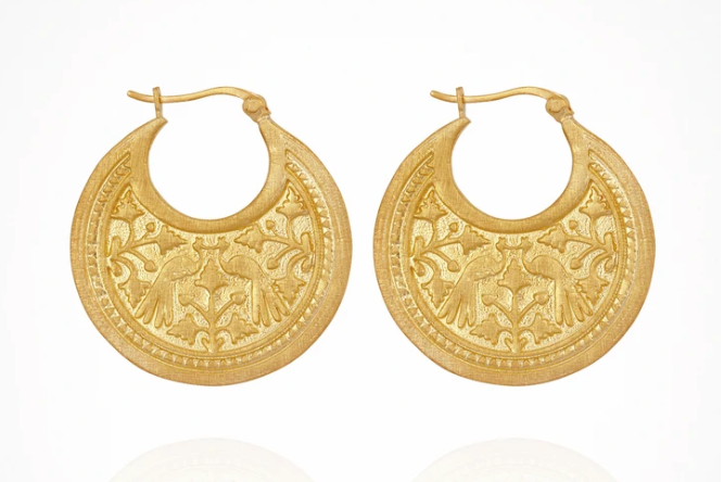 TEMPLE OF THE SUN - Peacock Earrings
