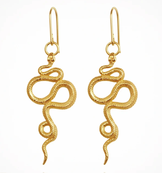 TEMPLE OF THE SUN - Snake Earrings