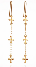 Load image into Gallery viewer, TEMPLE OF THE SUN - Cross Earrings