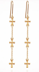 TEMPLE OF THE SUN - Cross Earrings