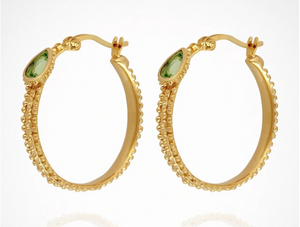 TEMPLE OF THE SUN: GIGI hoop earrings - GOLD