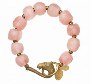 Blush Glass Bracelet