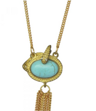 Load image into Gallery viewer, We dream in colour: Turquoise Snake Necklace