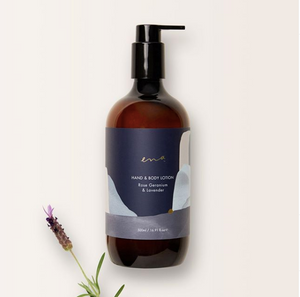 ENA:HAND & BODY LOTION- Rose Geranium & Lavender 500ml