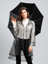 Load image into Gallery viewer, Rainy Day Raincoat - Black Spot