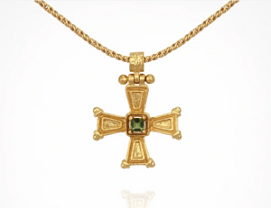 TEMPLE OF THE SUN: CRISTA  necklace - GOLD