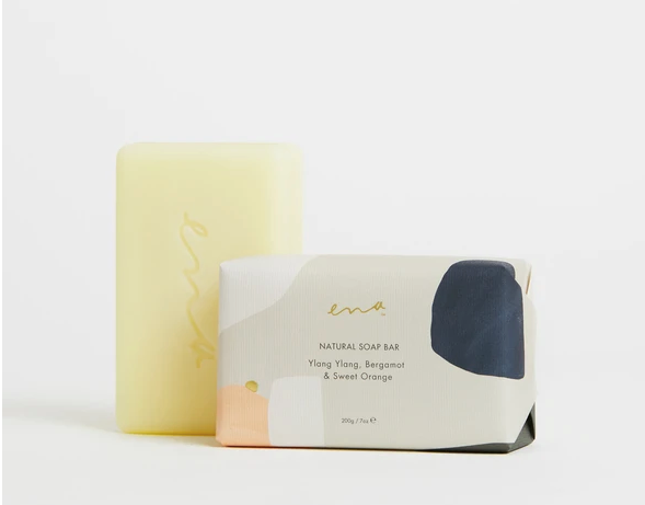 ENA:NATURAL SOAP BAR- Ylang Ylang, Bergamot & Sweet Orange 200gm