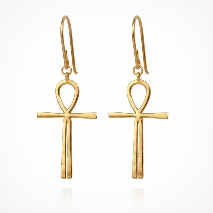 TEMPLE OF THE SUN: ANKA earrings - GOLD