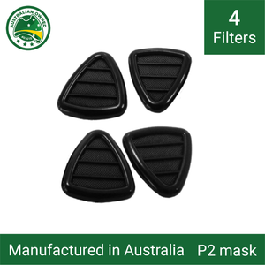 4x Mask replacement filters P1/P2  - 4 pack