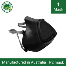 Load image into Gallery viewer, 1x Reusable P1/P2 face masks (black) - Including 3 replacement filters
