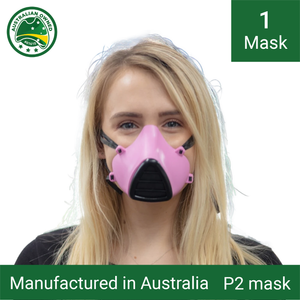 1x Reusable P1/P2 face masks (pink) - Including 3 replacement filters