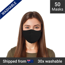 Load image into Gallery viewer, 3-ply reusable masks - 50 masks