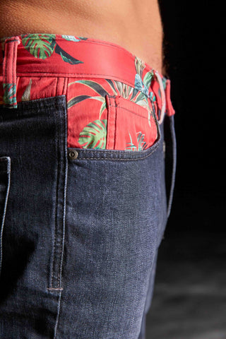 Beach Layer Denim (black/red)