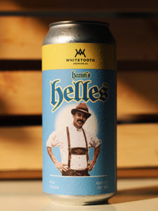 HANSI'S HELLES LAGER 4 Pack of 473ml Tall Cans