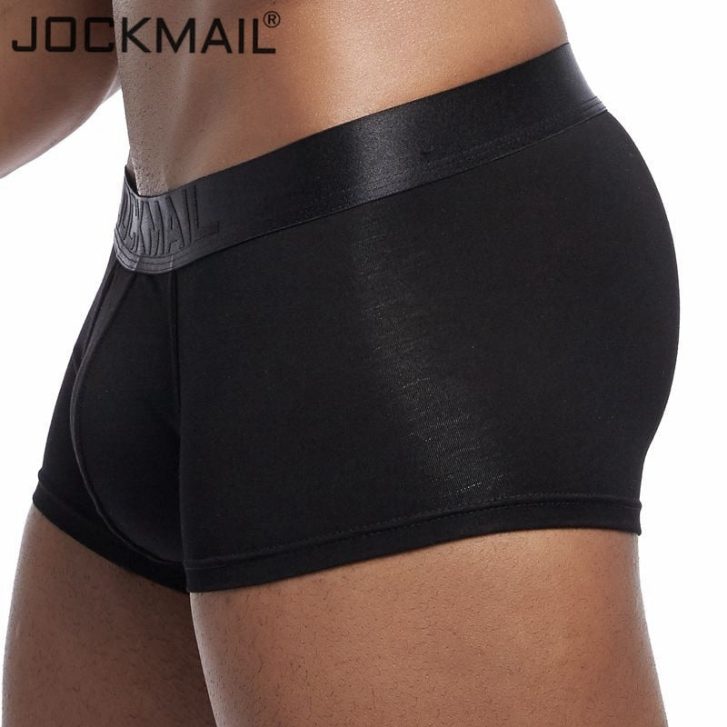 JOCKMAIL New sexy men underwear boxer solid boxershorts men Modal Soft Underpants Shorts men trunks cuecas Gay male panties