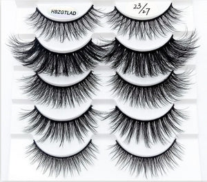 2019 NEW 5/10 pairs 100% Real Mink Eyelashes 3D Natural False Eyelashes Mink Lashes Soft Eyelash Extension Makeup Kit Cilios