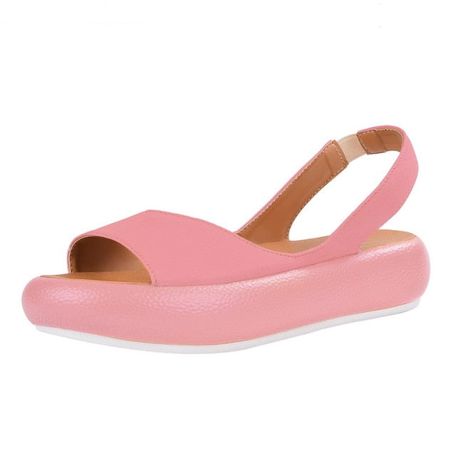 2019 Fashion Candy Color Women Sandals Flip Flops Summer Rome Slip-On Breathable Non-slip Shoes Woman Slides Solid Casual Female