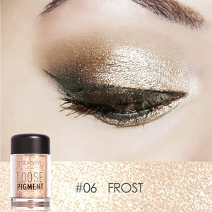 FOCALLURE Glitter Eye Shadow 18 Colors Cosmetic Makeup Diamond Lips Loose Makeup Eyes Pigment Powder Comestic Single Eye Shadow
