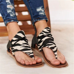 2020 Women Sandals Leopard Print Summer Shoes Women Large Size Andals Flat Women Sandals Womens Summer Shoes Sandals