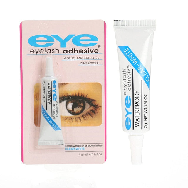 1PC False Eyelashes Makeup Adhesive False Eyelash Glue Clear-white Dark-black Waterproof Eye Lash Cosmetic Tools TSLM1
